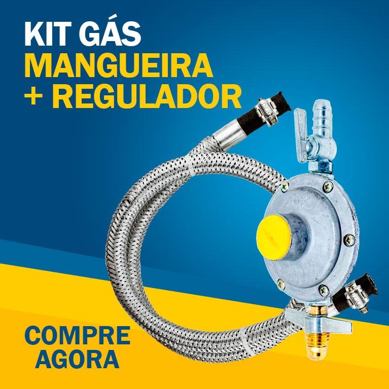 Kit Mangueira Para Gás e Regulador