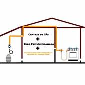 Central 1 P45 7 kg + Tubulação Por Metro + Mangueira BM