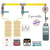 Central De Gás 1 P45 1,0 MT + Regulador Jackwal 5 Kg
