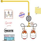 Central de Gás 2 P13 50 cm 5,0 kg/h + Regulador + Manômetro