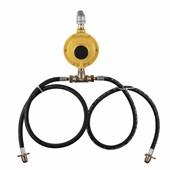 Central de Gás 2 P45 + Regulador 12 kg Amarelo