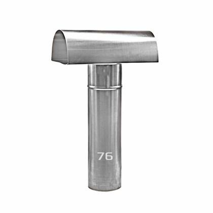 Chapéu Tee Ventilante Alumínio 076 MM para Aquecedor a Gás