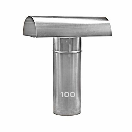 Chapéu Tee Ventilante Alumínio 100 MM para Aquecedor a Gás