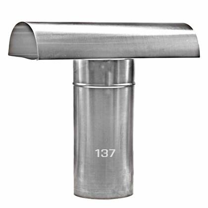 Chapéu Tee Ventilante Alumínio 137 MM para Aquecedor a Gás