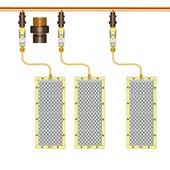 """Conector de bronze 15 mm x 1/2"""" Macho-Bolsa para Água Quente, Fria ou Gás"""