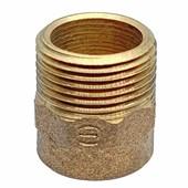 """Conector de bronze 22 mm x 3/4"""" Macho-Bolsa para Água Quente, Fria ou Gás"""
