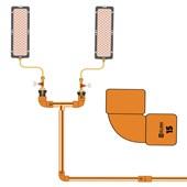 Cotovelo de cobre 15 mm para Água Quente, Fria ou Gás