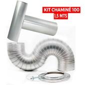 Kit Chaminé para Aquecedor 100 mm x 1,5 mts
