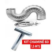 Kit Chaminé Para Aquecedor 60 Mm X 1,5 Mts