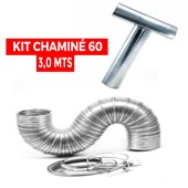 Kit Chaminé para Aquecedor 60 mm x 3,0 mts