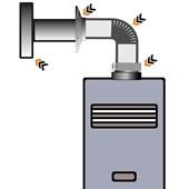 Kit Chaminé para aquecedor a gás 100 MM X 3,0 MTS Aluminio