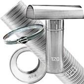 Kit Chaminé para aquecedor a gás 120 MM X 3,0 MTS Aluminio