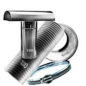 Kit Chaminé para aquecedor a gás 130 MM X 2,0 MTS Aluminio