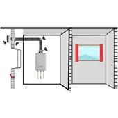 Kit Chaminé para aquecedor a gás 137 MM X 2,0 MTS Aluminio