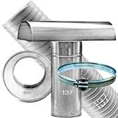 Kit Chaminé para aquecedor a gás 137 MM X 3,0 MTS Aluminio