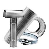 Kit Chaminé para aquecedor a gás 80 MM X 2,0 MTS Aluminio