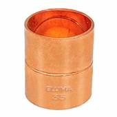 Luva de Cobre 35 mm para Água Quente e Fria, Gás e Medicinal