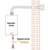 """Mangueira de Gás 1/2"""" 400 MM Tomback Macho e Fêmea Malha em Latão"""