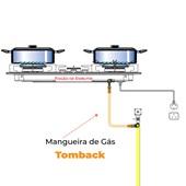 """Mangueira de Gás 1/2"""" 600 MM Tomback Macho e Fêmea Malha em Latão"""