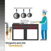 """Mangueira de Gás 3/4"""" Tomback - 1,50 Metros"""