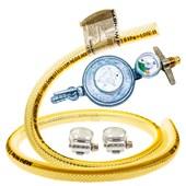 Mangueira para gás + regulador + manômetro