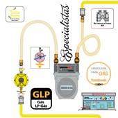 Mangueira para Gás Tomback Malha Latão 1/2 x 3/4  M x F