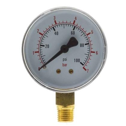 Manômetro de Gás 0/7kg 100 PSI 62 mm