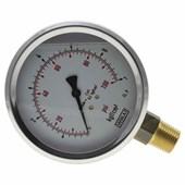 Manômetro De Gás Wika 1/2 0 A 07 Kg 100 Psi Glicerina