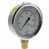 Manômetro de Gás WIKA 1/2 0 a 21 kg 300 PSI Glicerina