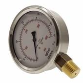 Manômetro de Gás WIKA 1/2 0 a 28 kg 400 PSI 100 mm