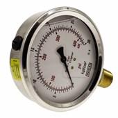 Manômetro De Gás Wika 1/2 0 A 30 Kg 420 Psi 100 Mm