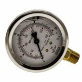 Manômetro De Gás Wika 1/4 0 A 21 Kg 300 Psi 063 MM