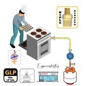 Niple Duplo Latão Redução 3/8 NPT Macho para Gás