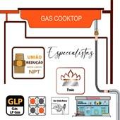 Niple Duplo Redução Latão 3/4 NPT Macho para Gás