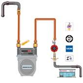 """Niple para Gás  de Redução em Latão GLP 3/4"""" BSPFx 3/8"""" SAEM"""