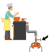 Registro de Gás 3/8 BM + Niple Borboleta