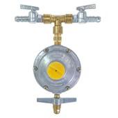 Regulador para Gás 2 kg/h + 2 Registros Zamac 1/4 x 3/8 BM Aliança