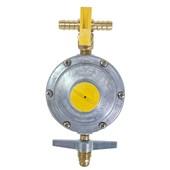 Regulador para Gás 2 kg/h Aliança + Registro Latão com Saída Dupla