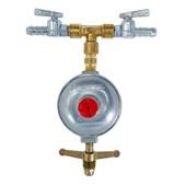 Regulador para Gás 5 kg/h + 2 Registro Aliança BM Zamac
