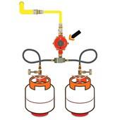 """Regulador Para Gás BP 2202 1/2"""" NPT GLP Fêmea Baixa Pressão Vermelho"""